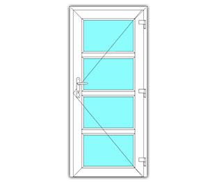 4 Vak glasdeur rechts