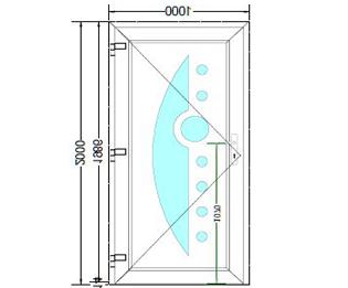 Sierdeurpaneel opening links 03