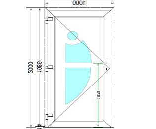Sierdeurpaneel opening links 08