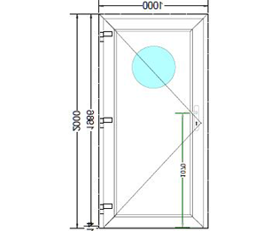 Sierdeurpaneel opening links 10