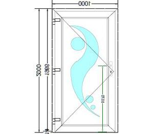 Sierdeurpaneel opening links 11