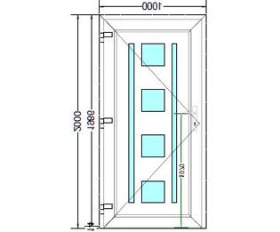 Sierdeurpaneel opening links 16