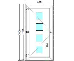 Sierdeurpaneel opening links 25