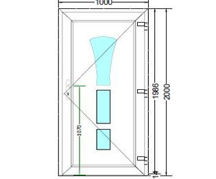 Sierdeurpaneel opening rechts 02