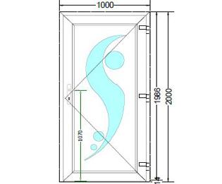 Sierdeurpaneel opening rechts 11