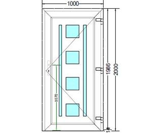 Sierdeurpaneel opening rechts 16