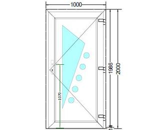 Sierdeurpaneel opening rechts 17