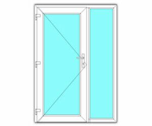 Glasdeur met zijlicht