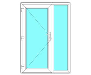 Glasdeur links met zijlicht
