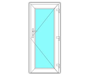 Glasdeur rechts