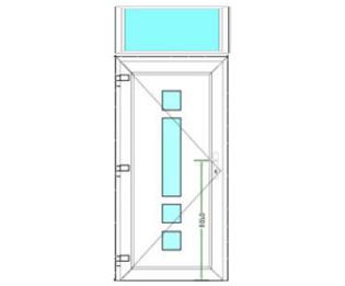 Sierdeurpaneel met bovenlicht links 01