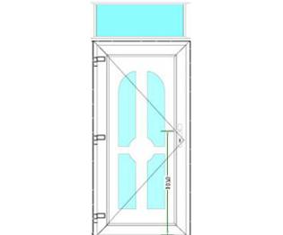 Sierdeurpaneel met bovenlicht links 27