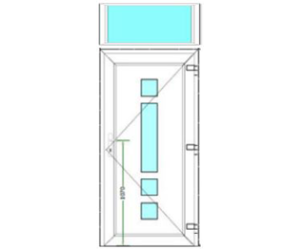 Sierdeurpaneel met bovenlicht (1-25)