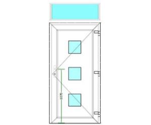 Sierdeurpaneel met bovenlicht (51-75)