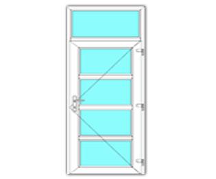 4 Vak Glasdeur rechts met bovenlicht