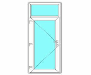 Glasdeur met bovenlicht